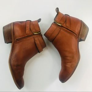 Sam Edelman women's brown leather ankle boots  7.5